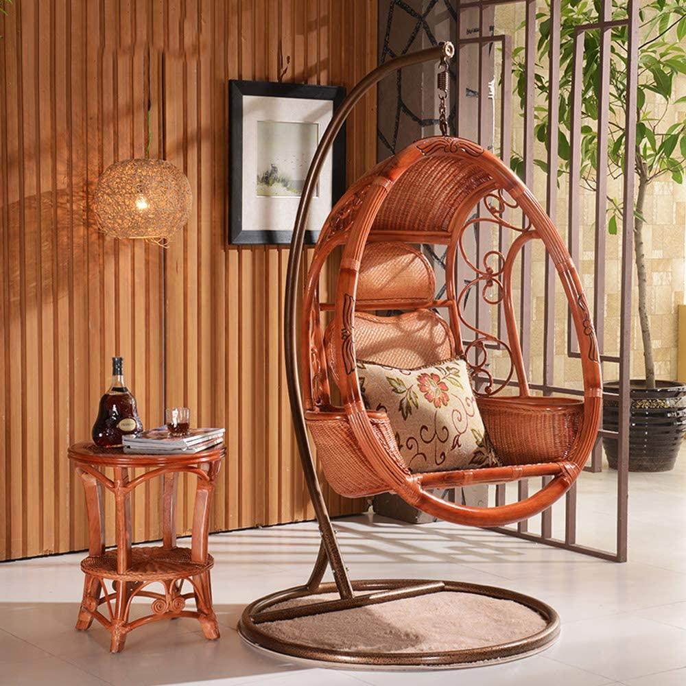 silla colgante de mimbre, mecedora suave sillon colgante leroy merlin