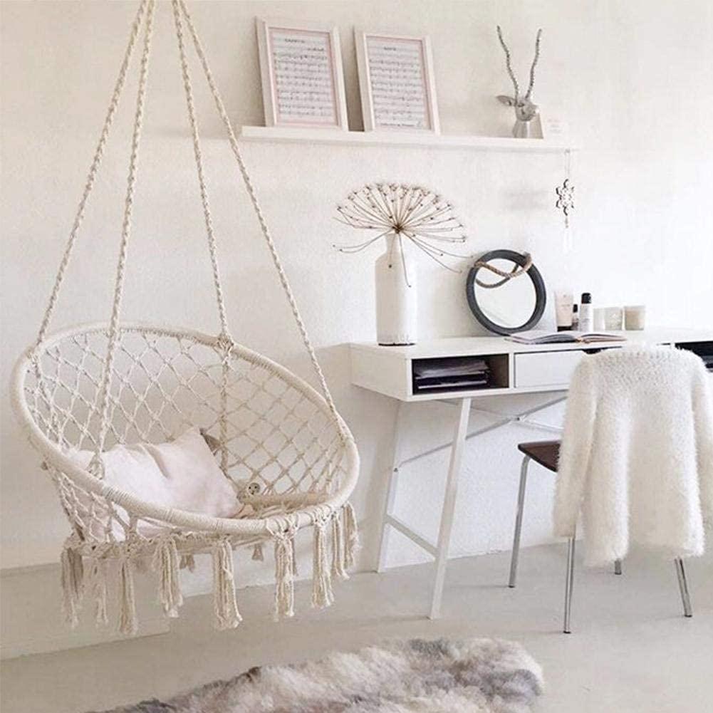 silla colgante de techo con cuerdas de algodón para interiores en habitación