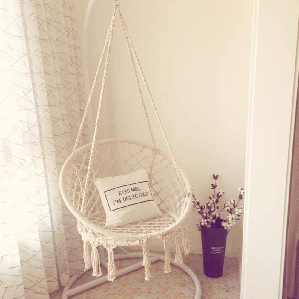 silla colgante de techo con cuerdas de algodón para interiores soporte viga madera sodimac
