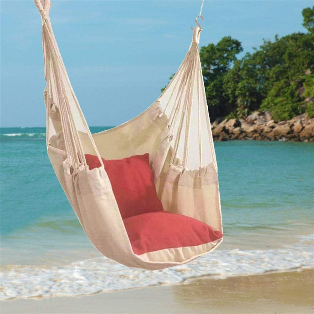 silla colgante en playa paradisíaca con cojín de lona silla homecenter