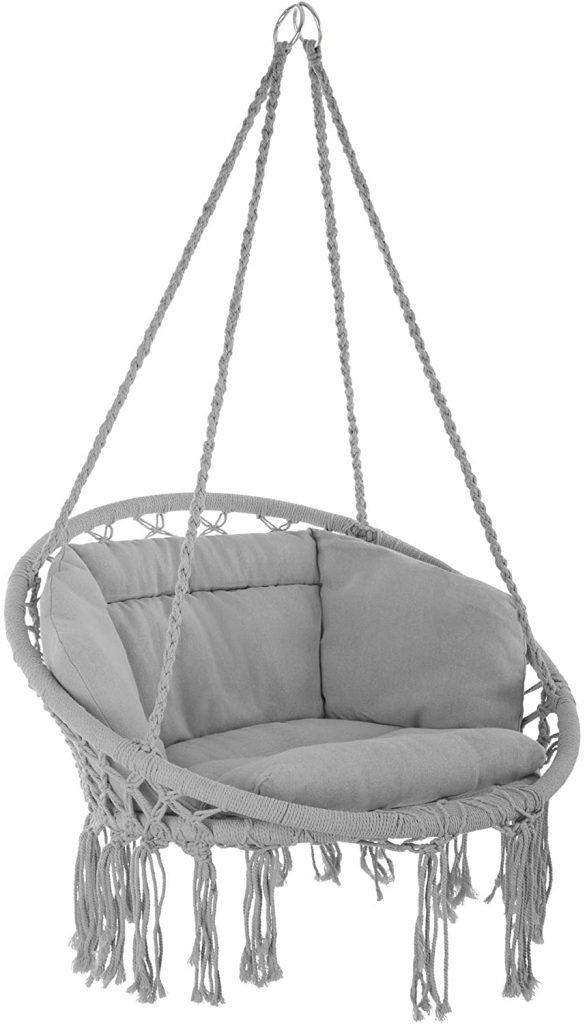 silla colgante tectake de algodón tectake amazon hamaca la siesta hamacas colgantes con soporte