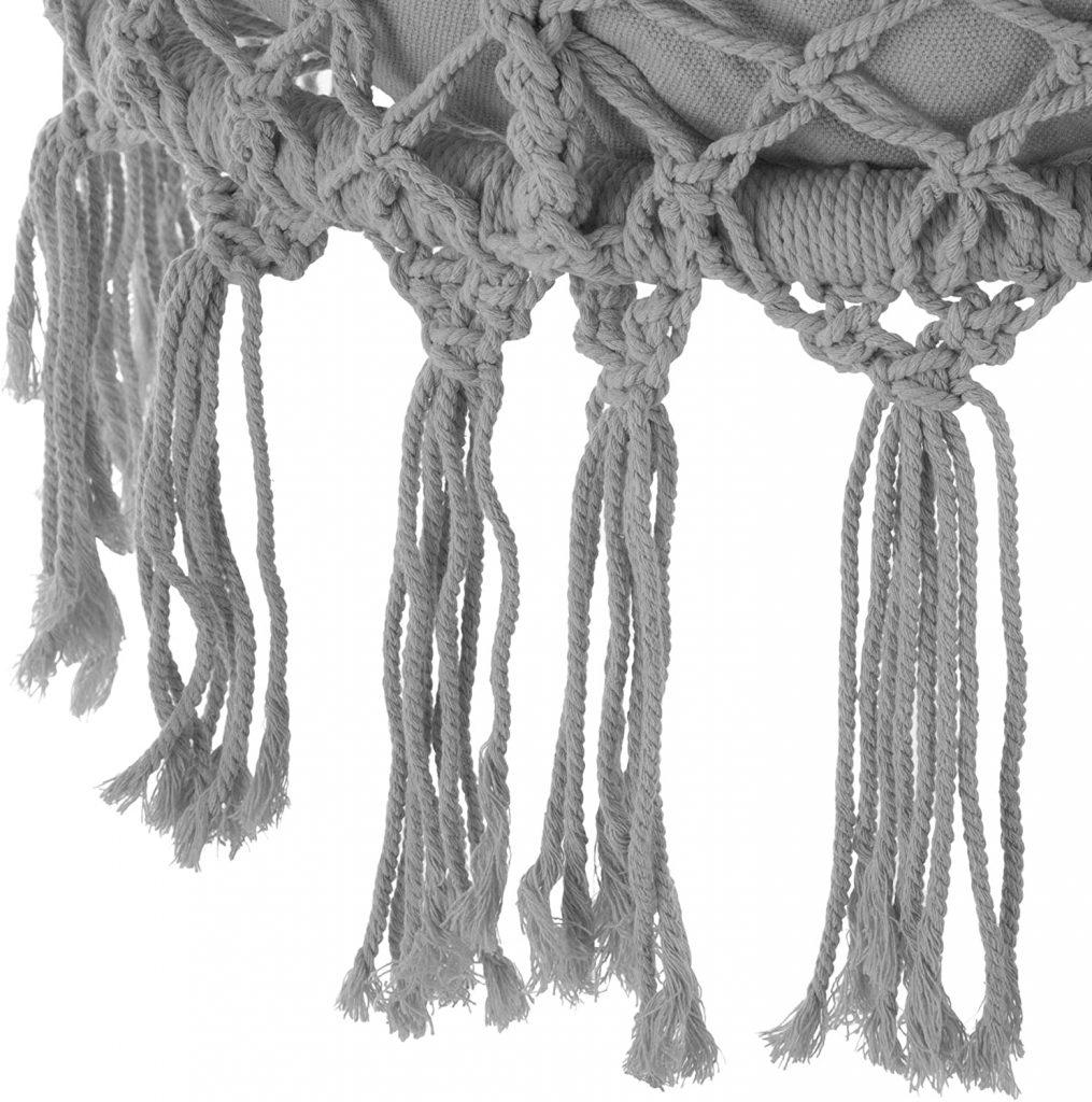 silla colgante tectake de algodón detalles