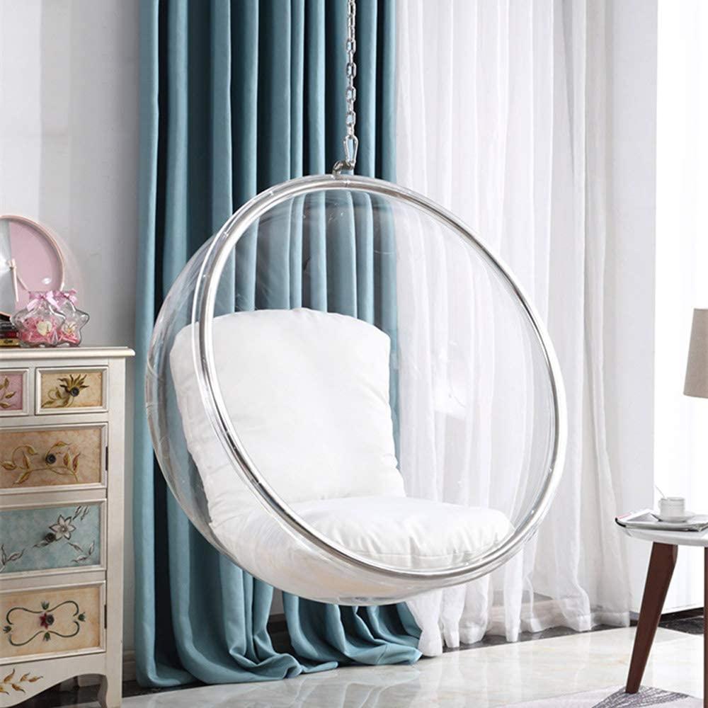 silla colgante trasnaparente de burbuja, de vidrio acrílico, bola de cristal