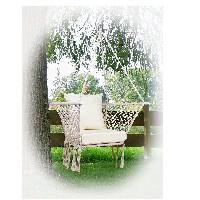 silla colgante con cojin