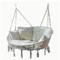 silla colgante para 2 personas anclada a techo o viga amazon tectake