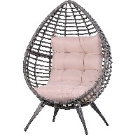 silla en forma de uevo ratan