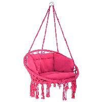 TecTake 800708 Silla Colgante color rosa