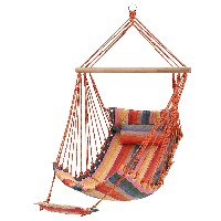 silla colgante con almohada y reposapies SONGMICS ikea sillas exterior