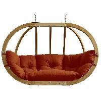silla colgante de madera para 2 personas