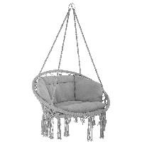 silla colgante interior y exterior tectake 800708 color gris sillas leroy merlin
