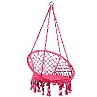 silla colgante tectake 800689 color rosa