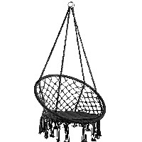 silla hamaca colgante tectake 800689 color negro